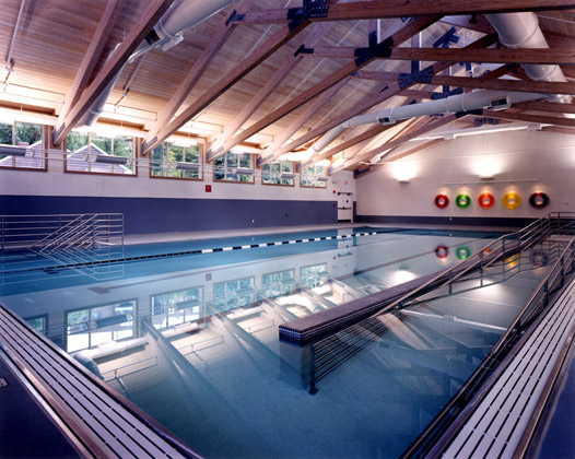 Peter B. Lewis Aquatic Center · Cleveland, Ohio · View of Pool with subdued contrast ratio