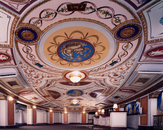 Allen Theater · Cleveland, Ohio · Ceiling shot with even lighting for advertisement